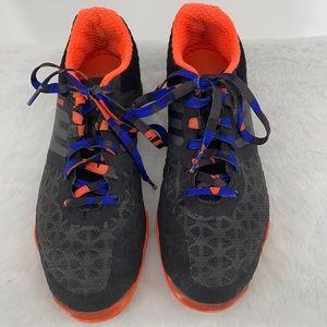 Adidas Top Sala men's skirt shoes black orange